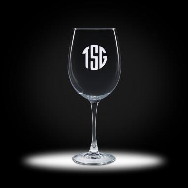 Custom Etched Colossal Glass Stemware