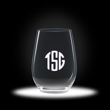 Custom Etched Stemless Riesling Wine Glasses