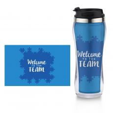 New Drinkware - Welcome to the Team Flip Top Travel Mug
