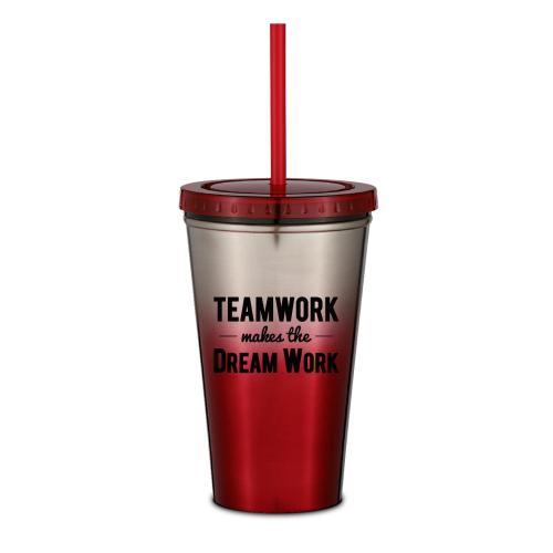 Teamwork Dream Work 16oz Ombre Straw Tumbler