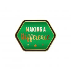 Recognition Pins - Making a Difference Green Lapel Pin