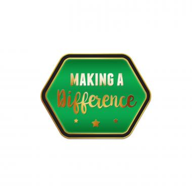 Making a Difference Green Lapel Pin