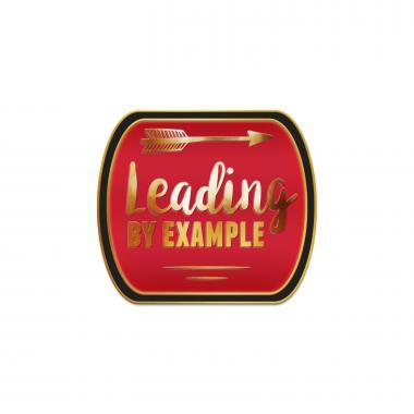Leading by Example Red Lapel Pin