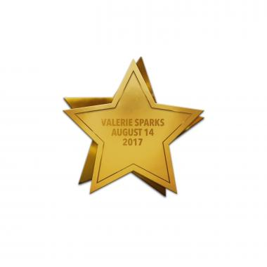 Star Personalized Lapel Pin