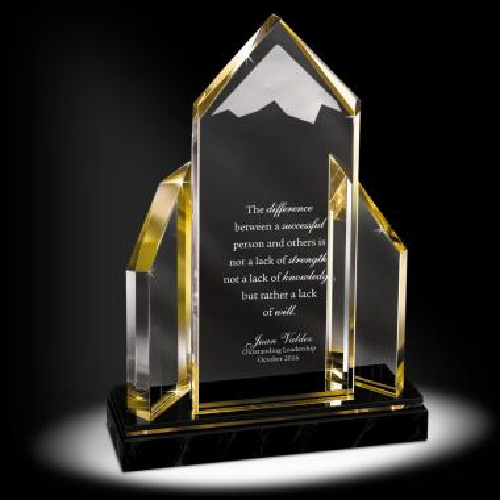 Reflecting Achievement Acrylic Award - Peak Performer