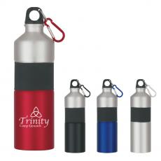 Stainless Steel - 25 Oz. Two-Tone Aluminum Bottle With Rubber Grip