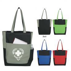 Polyester - Triple Pocket Tote Bag