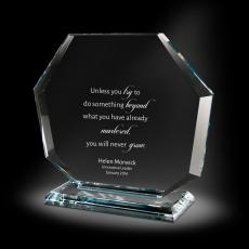 Glass Trophies - Octet Glass Award