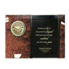 New Products - Glass Plaque Medallion Award