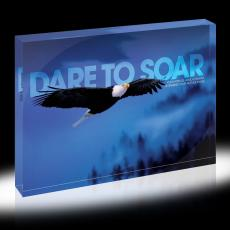 Dare to Soar - Dare To Soar Eagle Infinity Edge Acrylic Desktop