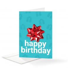 New Products - Bow Birthday Card 25 Pack