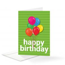 New Products - Balloons Birthday Card 25 Pack