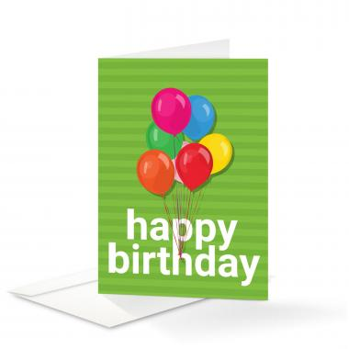 Balloons Birthday Card 25 Pack