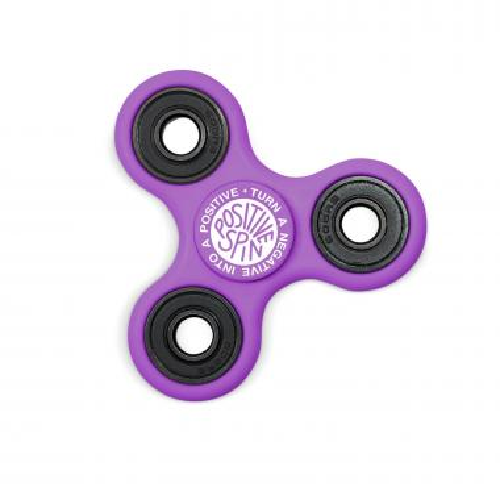 Positive Spin Fidget Spinner - Purple