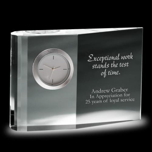 Wedge Crystal Clock