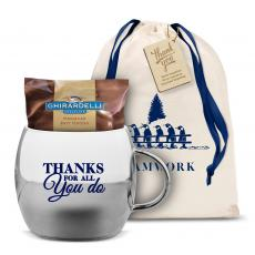 Thank You Gifts - Thanks for All You Do Sparkling Ornament Mug & Hot Cocoa Gift Set