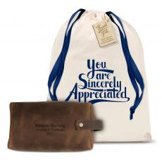 New Products - Leather Dopp Bag Gift Set
