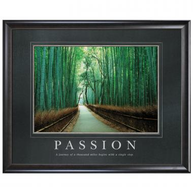 Passion Bamboo Path Motivational Poster