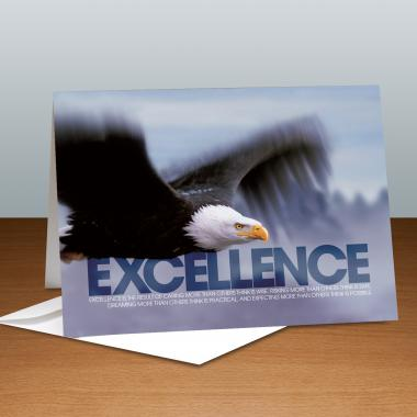 Excellence Eagle Infinity Edge 25-Pack Greeting Cards