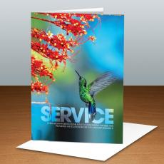 Modern Motivational Cards - Service Hummingbird Infinity Edge 25-Pack Greeting Cards