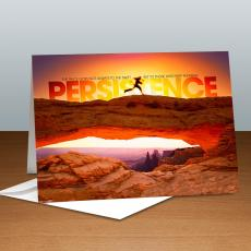 Modern Motivational Cards - Persistence Runner Infinity Edge 25-Pack Greeting Cards