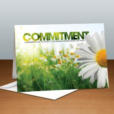 Modern Motivational Cards - Commitment Daisy Infinity Edge 25-Pack Greeting Cards