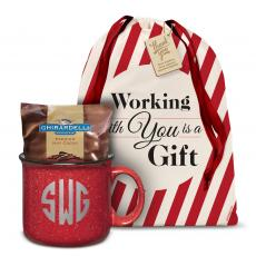 Candy & Food - Monogram Ceramic Camp Mug Holiday Gift Set