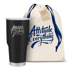 Personalized - The Big Joe - Attitude is Everything 30oz. Stainless Steel Tumbler