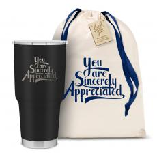 Personalized - The Big Joe - Sincerely Appreciated 30oz. Stainless Steel Tumbler