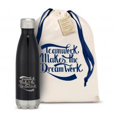 Personalized - Teamwork Dream Work Swig 16oz Bottle