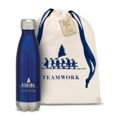 Personalized - Teamwork Penguins Swig 16oz Bottle