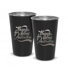 Personalized - Pair of Thanks for Being Awesome 16oz Stainless Steel Pint Cup