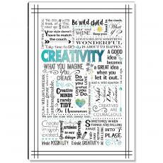New Products - Creativity Blue Inspirational Art