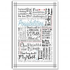 Newest Additions - Possibilities Blue Inspirational Art