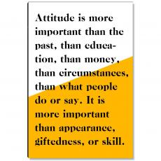 Workplace Wisdom - Attitude Is More Important Inspirational Art