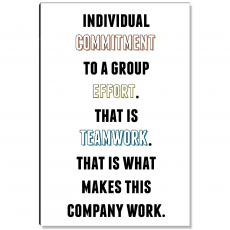 New Products - Commitment To Teamwork Inspirational Art