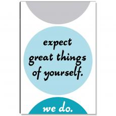 Workplace Wisdom - Expect Great Things Inspirational Art