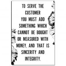 Workplace Wisdom - Serve The Customer Inspirational Art