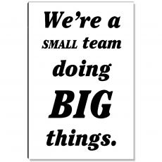 Workplace Wisdom - Small Team Inspirational Art