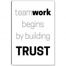 Workplace Wisdom - Teamwork Begins Inspirational Art