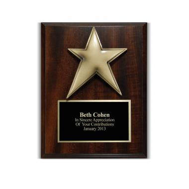 Star 3D Presentation Award Plaque