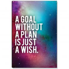 Space Series - Goal Without A Plan Inspirational Art