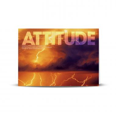 Attitude Lightning Infinity Edge 25-Pack Greeting Cards