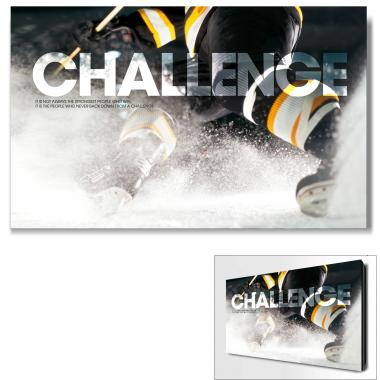 Challenge Hockey Motivational Art