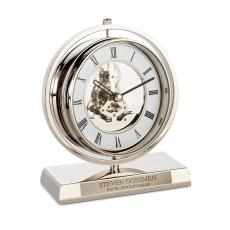 Employee Gifts - Personalized Chrome Gear Clock