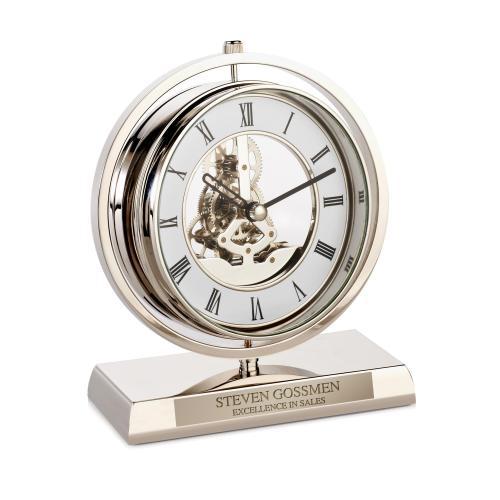 Personalized Chrome Gear Clock