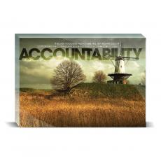 Modern Motivation - Accountability Windmill Desktop Print