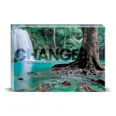 Modern Motivation - Change Forest Falls Desktop Print