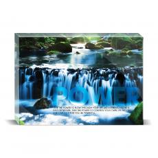 Modern Motivation - Power Waterfall Desktop Print