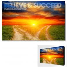 Believe & Succeed Path Motivational Art